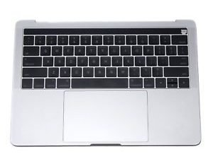 A1706 Top Case (Silver) with Keyboard and Trackpad for Apple MacBook Pro 13 inch retina A1706 Touch Late 2016, A1706 Touch Mid 2017