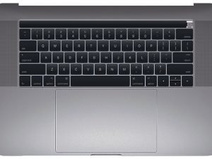 Top Case with Keyboard, Space Gray for Apple MacBook Pro 15-inch Retina Touch A1990 (Mid 2018)