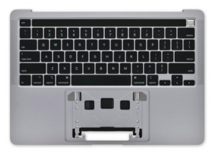 A2251 Top Case, Silver for Apple MacBook Pro 13-inch Retina Touch A2251 (Mid 2020)