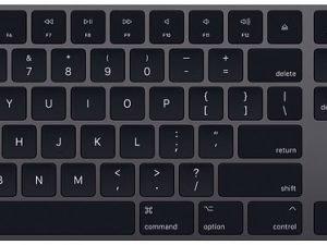 Apple Magic keyboard, Space Gray for iMac, MacBook, MacBook Pro, MacBook Air, Mac Pro, Mac Mini